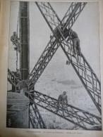 Paris , La Toilette De La Tour Eiffel , Gravure D'aprés Dessin De Bombled 1899 - Historische Dokumente