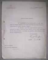 """Invio Su Carta Intestata """"Sov.Militare Ordine Di Malta Associazione Militare"""" Con Firma Il Presidente RUFO RUFFO 1937 - Autographes"""
