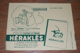 """Buvard Cahiers Et Copies HERAKLES, """"L'élève Aldebert Utilisait Le Parchemin Pour Faire Ses Devoirs"""", Charlemagne - Buvards, Protège-cahiers Illustrés"""