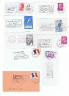 LOT DE 50 FLAMMES FRAGMENTS - Marcophily (detached Stamps)