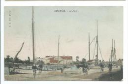 50/ MANCHE... CARENTAN. Le Port... Cliché Colorisé.. CYCLISTE - Carentan