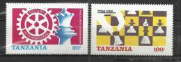 TANZANIA 1986 - CHESS AND ROTARY INTERNATIONAL - MNH MINT NEUF NUEVO - Tanzanie (1964-...)