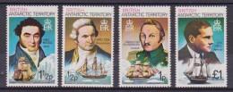 **  BRITISH ANTARTIC TERRITORY NAVIGATORI NAVI SHIPS MNH YVERT 71/74 - Territorio Antartico Britannico  (BAT)