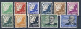 Deutsches Reich No. 529 - 539 ** postfrisch Fingerspuren