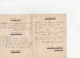 -  23 - SAINT MARC A LOUBAUD - Très Beau Programme Signé MAUME - 2 Mai 1943 . - Programmes