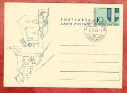 P 45 Gemeindewappen Schaan, Blanko, Mauren 1965 (78192) - Ganzsachen
