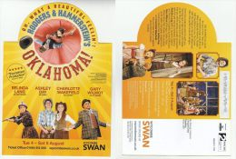 2015 GB Rogers And Hammerstein OKLAHOMA MUSICAL Illus ADVERT COVER (card) Prepaid PPI Stamps WYCOMBE SWAN THEATRE - Theatre