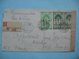 LETTRE DE MORAMANGA (MADAGASCAR) A FORT-LAMY - 30 AVRIL 1945 - Madagascar (1889-1960)
