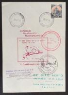 POSTA AEREA - 34 GIRO AEREO DI SICILIA TAPPA REGGIO CALABRIA PALERMO AEREOGRAMMA VOLATO PARTENAVIAP68 VIETOR  I- TWIN - Aerei