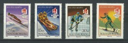 UNGHERIA  - SPORT INVERNALI  - PRE OLIMPIADI ALBERTVILLE - ANNO 1991 -  4 VALORI NUOVI MNH ** - Unused Stamps