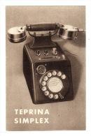 Carte PUB - TELEPHONE TEPRINA SIMPLEX - Publicidad