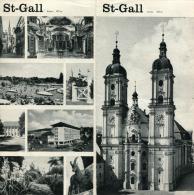 SAINT-GALL  SUISSE   DÉPLIANT PHOTOS ET CARTE - Folletos Turísticos