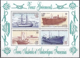 TAAF 2001 Yvert Bloc Feuillet 6 Neuf ** Cote (2015) 16.20 Euro Vieux Gréments - Blocchi & Foglietti