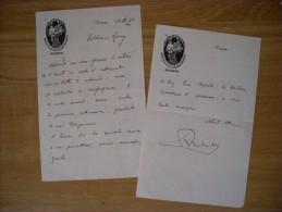 ANTONIO ROSSARO. Lettera Manoscritta E Firmata Su Carta Intestata Biblioteca Civica ROVERETO. 1935 - Autografi