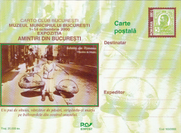 OLD BUCHAREST, BIRDS SELLER, PC STATIONERY, ENTIER POSTAUX, 2000, ROMANIA - Postal Stationery
