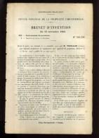 - PROJECTEURS . BREVET D´INVENTION DE 1902 . - Projectors