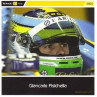 Giancarlo Fisichella  -  Pilote Renault F1 Grand Prix  -  Carte Promo - Grand Prix / F1