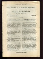- BATEAU DE TRANSPORT . BREVET D´INVENTION DE 1902 . - Technics & Instruments