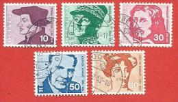 SVIZZERA USATO - 1969 - Ritratti - VARI - Michel CH 906-910 - Switzerland
