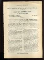 - SYSTEME DE NAVIGATION FLUVIALE . BREVET D´INVENTION DE 1902 . - Technique Nautique & Instruments