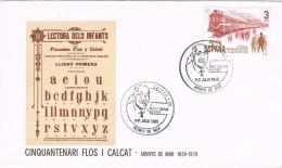 13694. Carta  Exposicion ARENYS De MAR (Barcelona) 1980. Pedagogo Flos I Calcat - 1931-Hoy: 2ª República - ... Juan Carlos I