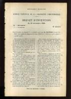 - VOITURES . SYSTEME DE CHANGEMENT DE VITESSE  . BREVET D�INVENTION DE 1902 .