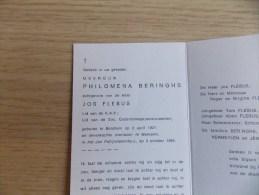 Doodsprentje Philomena Beringhs Berchem 3/4/1921 Merksem 3/10/1988 ( Jos Flebus ) - Religion & Esotericism
