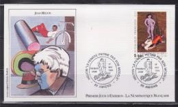 """= Jean Hélion Enveloppe 1er Jour 80 Amiens 1.12.84 N°2343 """"Le Peintre Piétiné Par Son Modèle"""" Illustration Portrait - 1980-1989"""