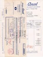 Facture + Lettre De Change 1953 Adolphe ANCEL Fabrique Alsacienne De Produits Alimentaires Strasbourg-Meinau - Alimentaire