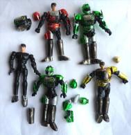 Rares FIGURINE WINSPECTOR - -  LOT DE 5 FIGURINES INCOMPLETES + PIECES Et 2 ARMES 1990 (2 Photos) - Teenage Mutant Ninja Turtles