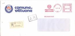 COMUNE DI VITTUONE - 20010 - PROV MILANO - R/AMR - 1981 - FTO 11X22 - TEMATICA TOPIC STORIA COMUNI D´ITALIA - Affrancature Meccaniche Rosse (EMA)