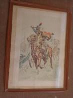 Sous Verre  Dessin Ou Photo ????de Maurice Toussaint -cheval-militaire-bataille-format 15x22 - Unclassified