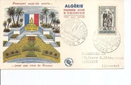 Algérie -Oeuvres De Guerre ( FDC De 1955 à Voir) - Algérie (1924-1962)