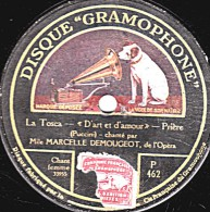 78 Trs - 25 Cm - état M - MARCELLE DEMOUGEOT  La Tosca D'art Et D'amour - ROUARD Oui, L'on Me Dit Vénal - 78 T - Disques Pour Gramophone