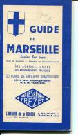 GUIDE DE MARSEILLE    TOUTES LES RUES ADRESSES UTILES LIBRAIRIE DE LA BOURSE - Francia