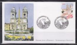 = Capitales Européenne Rome Enveloppe 1er Jour Paris 7.11.02 N°3529 L'Eglise De La Trinité Des Monts - 2000-2009