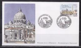 = Capitales Européenne Rome Enveloppe 1er Jour Paris 7.11.02 N°3530 La Basilique Saint Pierre - 2000-2009