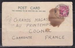 = Carte Postale Commerciale Du Nigéria à 16 Cognac France 1949 - Nigeria (1961-...)