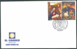 URUGUAY - CHRISTMAS 2001 FDC VF - Uruguay