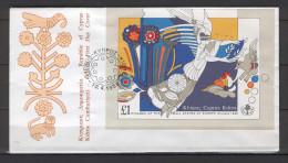 Cyprus 1989 (Vl B14) 3rd European States´ Games M/S FDC - Chypre (République)