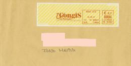 EMA Rouge HE 281662 Meaux 77 Seine Et Marne + Flamme Congis Sur Thérouanne - Postmark Collection (Covers)