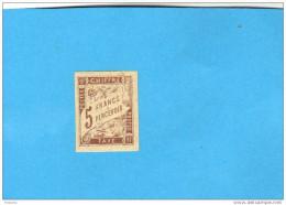 Colonies Françaises Générales- TAXE-5 Francs -N° 17  Neuf* Trace Fine Charnière  Cote 130euros - Postage Due