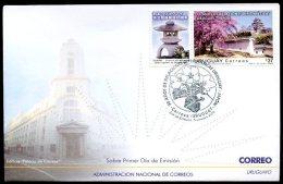 URUGUAY - JAPAN 90 ANNIV OF DIPLOMATIC RELATIONSHIPS FDC, VF - Uruguay