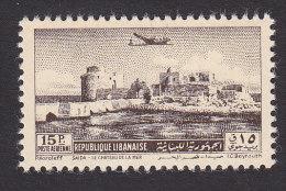 Lebanon, Scott C160, Mint Hinged, Crusader Castle, Issued 1950 - Liban