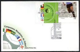 URUGUAY - SOCCER CHAMPIONS 2002, FDC - Uruguay