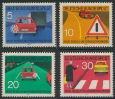 Deutschland Germany 1971 Mi 670 /3 YT 534 /7 Sc 1059 /2 ** New Traffic Regulations  //  Neue Regeln Im Straßenverkehr - Transportmiddelen