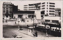 """AK - ANKARA -  Strassenansicht Ulus-Platz Mit """"Zafer Anıtı""""  1953 - Türkei"""