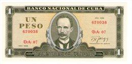 Cuba  1 peso 1986 UNC