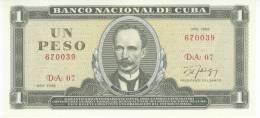 Cuba  1 peso 1988 UNC