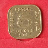 CEILÃO  5  CENTS  1945   KM# 113,2  -    (Nº12220) - Sri Lanka